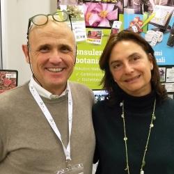Emanuela Rosa-Clot visita lo stand di Florinfo