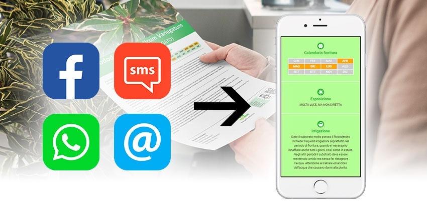 Con Botanica on Web e WhatsApp consegni la scheda botanica ai tuoi clienti!